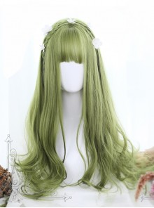 Green Big Wavy Long Hair Lolita Wig