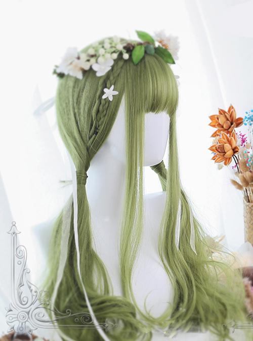 Green Big Wavy Long Hair Lolita Wig