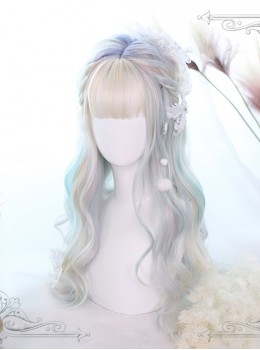 Auroral Color Long Curly Hair Lolita Wig
