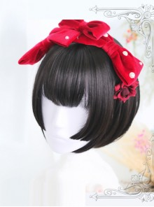 Hime Cut Short Straight Hair Lolita Wig