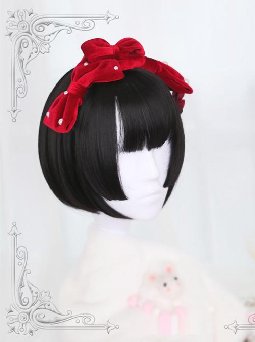Hime Cut Short Straight Hair Lolita Wig