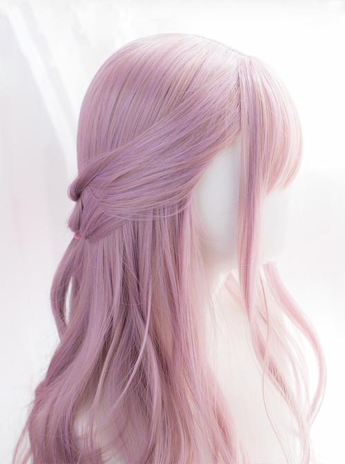 Slanted-bangs Long Curly Hair Lolita Wig