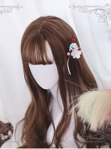 Air-bangs Big Curly Long Hair Brown Lolita Wig