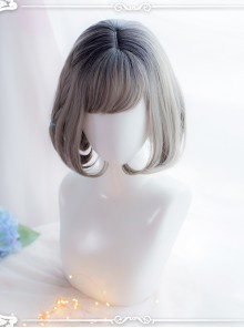 Gray Staining Inner Buckle Short Hair Lolita Wig