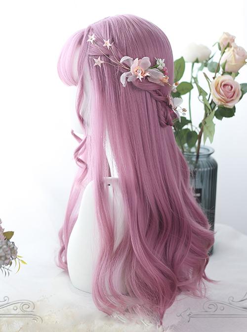 Pink Micro Curly Long Hair Lolita Wigs