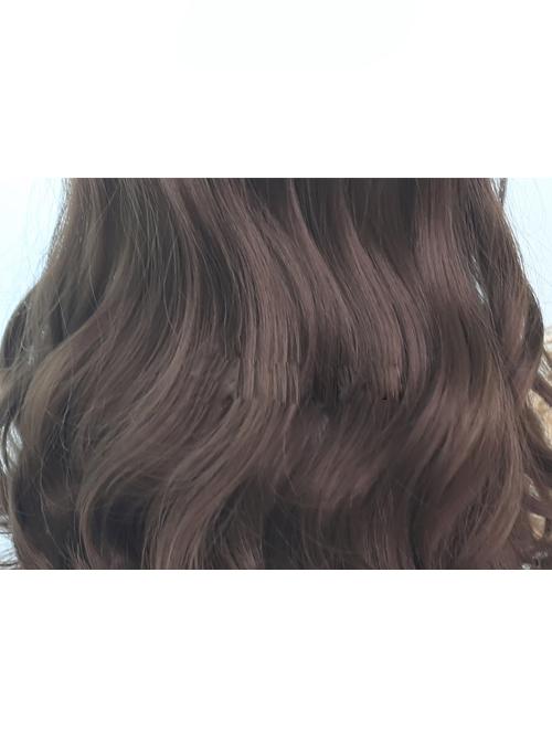 Brown Hair Bangs Long Curly Hair Classic Lolita Wigs
