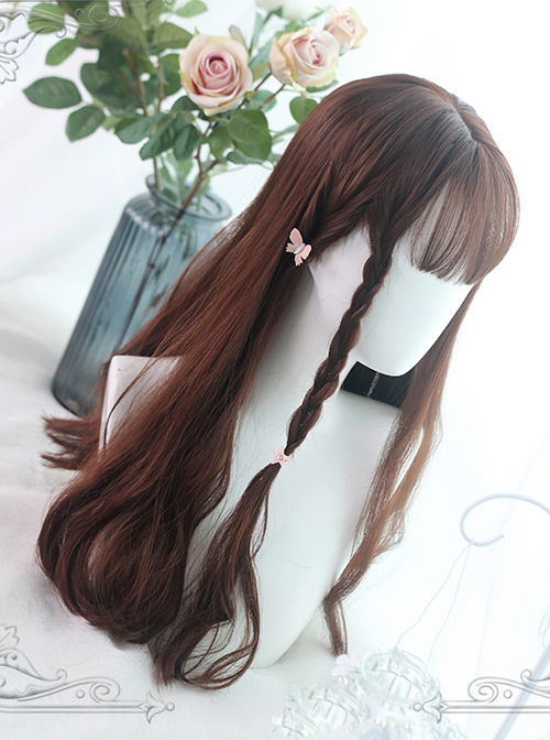 Rose And Flower Thorn Series Brown Long Curly Hair Lolita Wigs
