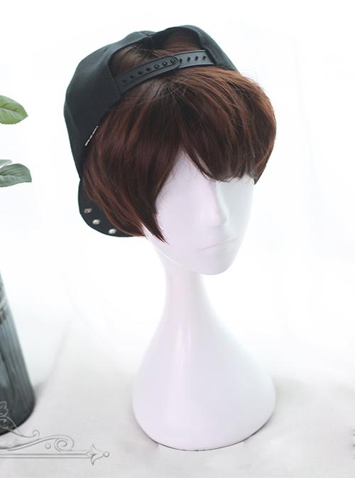 Rose And Flower Thorn Series Brown Short Wavy Hair Lolita Wigs