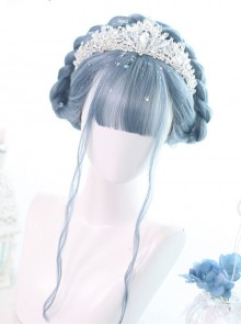 Mermaid's Tears Series Long Curly Hair Lolita Blue Wigs