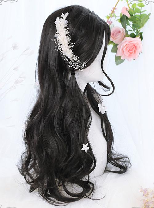 Natural Black Daily Long Curly Hair Lolita Wigs