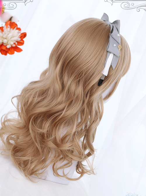 Brown Or Black Medium Length Curly Hair Classic Lolita Wigs
