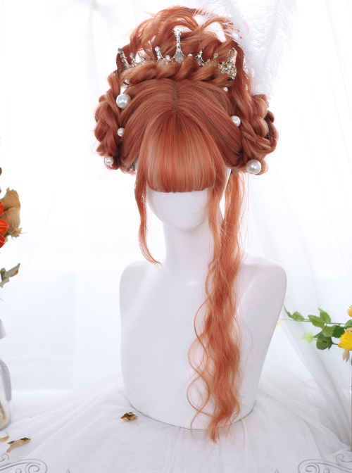 Multicolor Egg Roll Long Curly Hair Classic Lolita Wigs