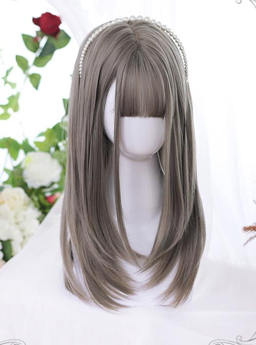 Layering Design Multicolor Medium Long Hair Classic Lolita Daily Wigs