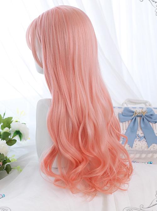 Peach Oolong Series Pink Long Curly Hair Sweet Lolita Wigs