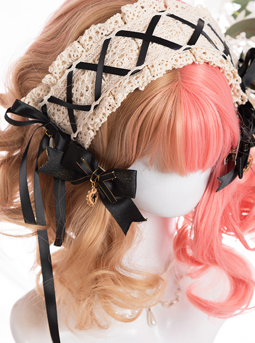 Double-colored Harajuku Style Short Curly Hair Sweet Lolita Wigs