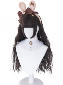 Cute Sheep Roll Long Curly Hair Sweet Lolita Wigs