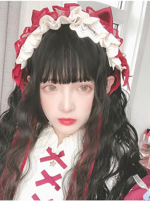 Cute Sheep Roll Long Curly Hair Sweet Lolita Wigs