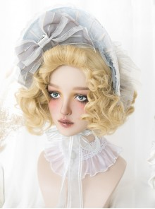 Golden Elegant Short Curly Hair Classic Lolita Wigs