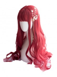 The Little Mermaid Red Long Curly Hair Classic Lolita Wigs