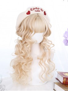 Wool Curl Medium Length Curly Hair Classic Lolita Wigs
