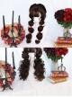 Wool Curl Medium Length Curly Hair Classic Lolita Wigs
