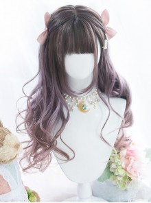 Astrological Girls Purple Gradient Long Curly Hair Classic Lolita Wigs