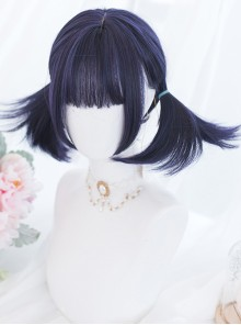 Harajuku Blue-purple Short Hair Gothic Lolita Wigs