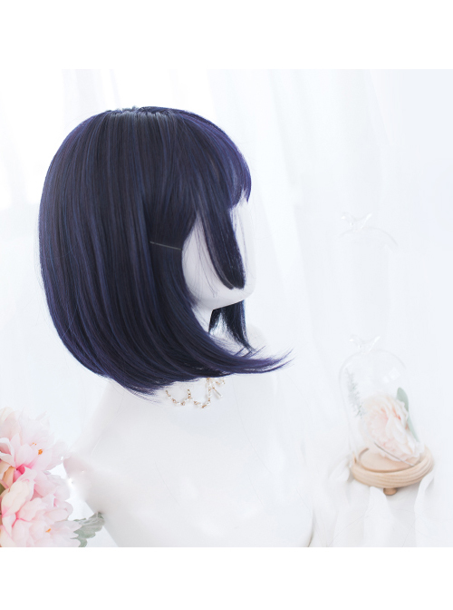 Harajuku Blue-purple Short Hair Gothic Lolita Wigs
