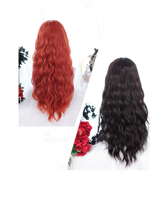 Noble Centre Parting Long Curly Classic Lolita Wigs