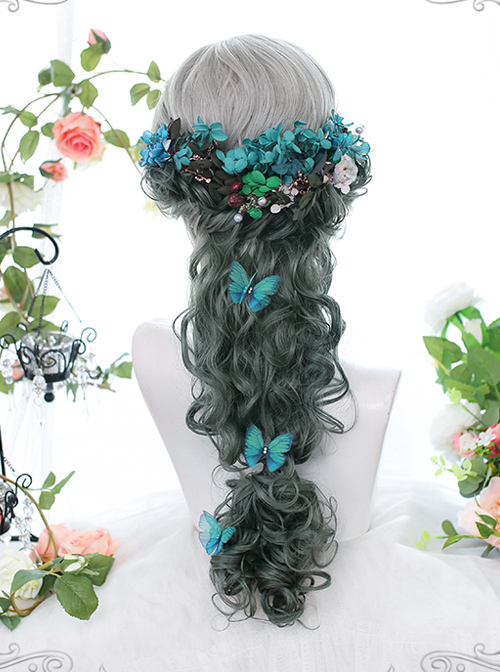 Gradient Centre Parting Wool-curly Long Wig Classic Lolita Wigs