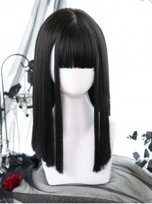 Medium Length Straight Wig Gothic Lolita Wigs