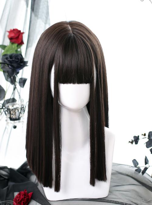 Medium Length Straight Wig Gothic Lolita Wigs