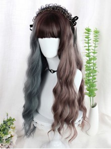 Two Colors Corn Perm Long Curly Wigs Classic Lolita Wigs