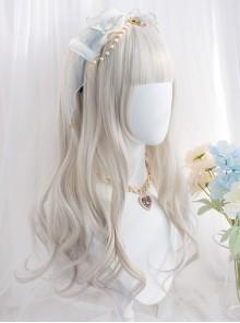 Harajuku Gray Gradient Medium Length Curly Wig Classic Lolita Wigs