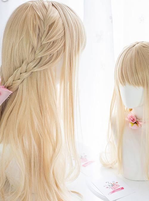 Love And Beauty Venus Light Golden Long Curly Wig Classic Lolita Wigs
