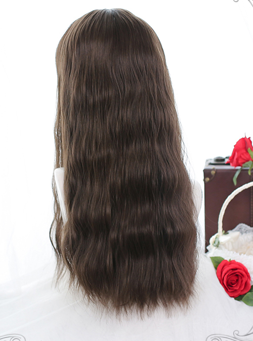 Wheat-ear Curly Long Curly Wig Classic Lolita Brown Wigs
