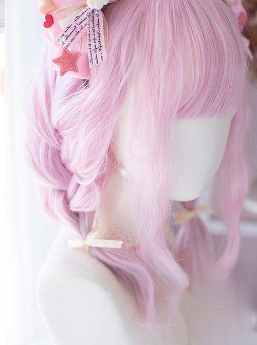 Pink Gradient Medium Length Wig Cute Sweet Lolita Wigs