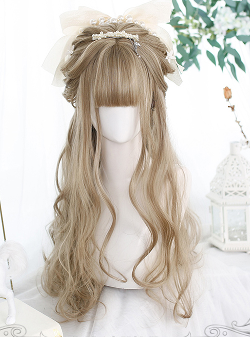 Light Brown Gentle Long Curly Wig Classic Lolita Wigs