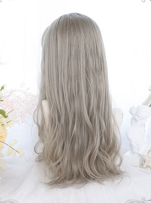 Gentle Long Curly Gray Wig Classic Lolita Wigs