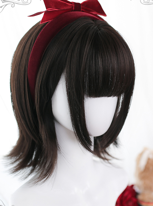 Natural Outward Curly Wig Sweet Lolita Short Wigs