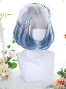 Natural Inward Curly Gradient Wig Classic Lolita Short Wigs