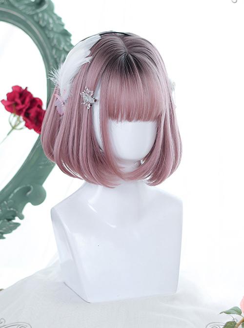 Natural Inward Curly Gradient Wig Classic Lolita Short Wigs