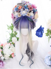 Dreamy Purple Natural Gradient Classic Lolita Long Curly Wigs