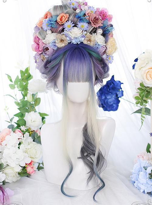 Dreamy Purple Natural Gradient Classic Lolita Long Curly Wigs