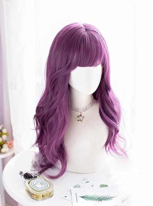 Grape Purple Long Curly Sweet Lolita Wigs