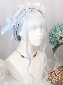 Gemstone Color Long Straight Classic Lolita Wigs