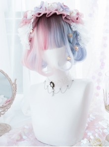 Pink Blue Gradient Short Wig Sweet Lolita Wigs