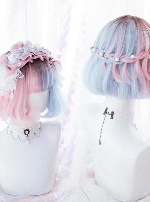 Pink Blue Gradient Short Wig Sweet Lolita Wigs