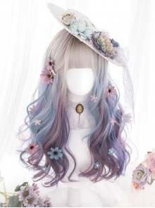 Multicolor Gradient Long Curly Sweet Lolita Wigs