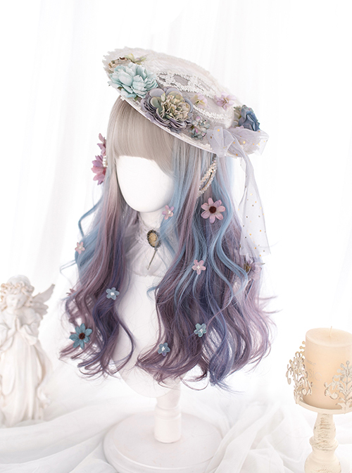 Multicolor Gradient Long Curly Sweet Lolita Wigs